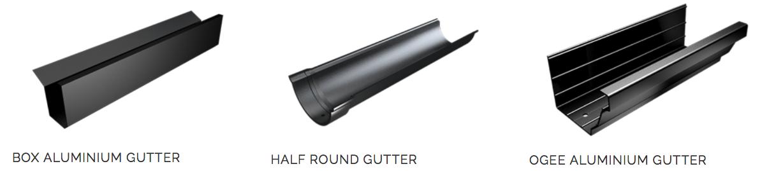 aluminium gutter styles