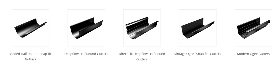 types of gutter